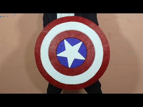 How To Make Captain America's Shield With Cardboard - YouTube