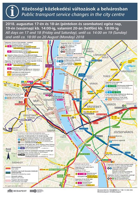 Transport service changes in Budapest during the 20th of