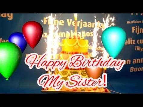 Happy Birthday Song for My Sister! - YouTube