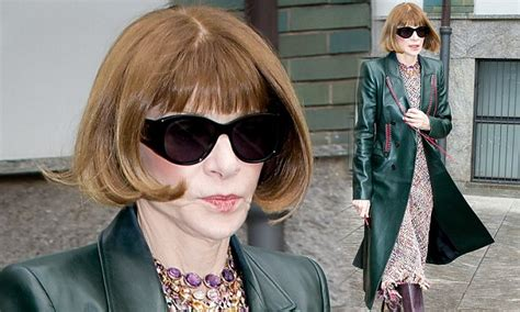 Anna Wintour steps out wearing her trademark sunglasses