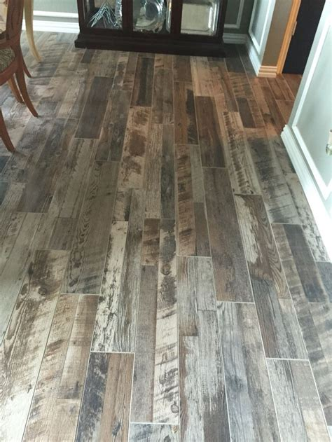 Grey wood look tile (With images) | Stone flooring, Wood